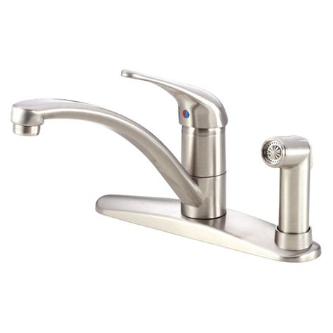 kitchen faucet with built in sprayer delta windemere 2 handle standard kitchen faucet with side sprayer in stainless 21996lf ss the