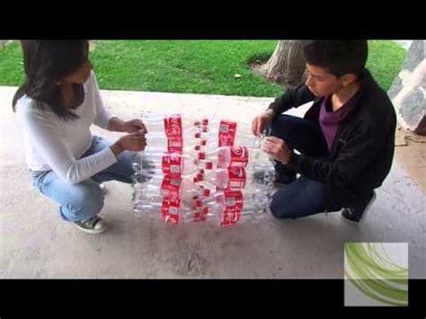 cestos en materiales reciclables basurero con botellas reciclables youtube