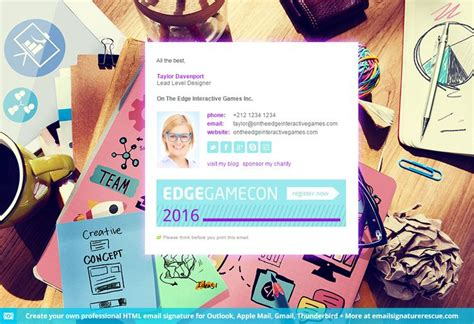 Create Your Own Professional Html Email Signature Template For Outlook Apple Mail Gmail Create Your Own Email Template