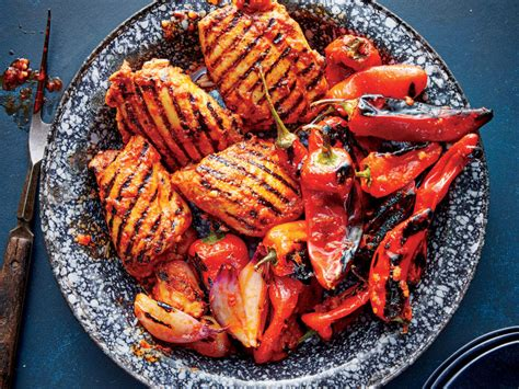 light grilled chicken recipes grilled red curry chicken and bell peppers recipe