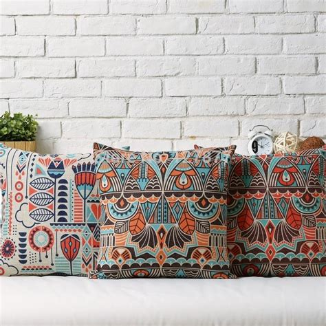 cheap bohemian home decor red sofa cushions aecagra org