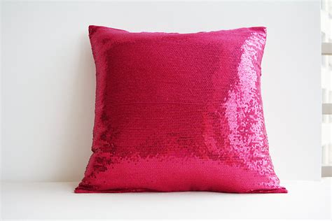 pink patterned cushions shiny hot pink sequin pillow cover pink holiday decor