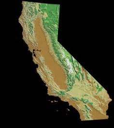 topographical map california california relief map