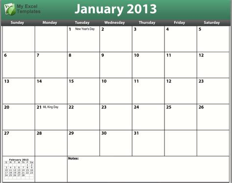 January 2013 Calendar Image Gallery January 2013 Calendar