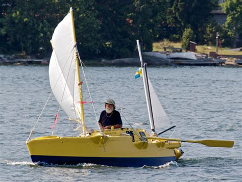 smallest catamaran to sail around the world skippering the smallest boat around the world sail magazine