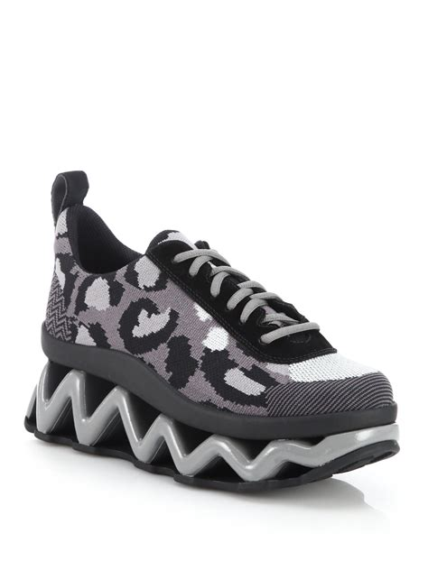 marc jacob sneakers lyst marc by marc wave textile leather