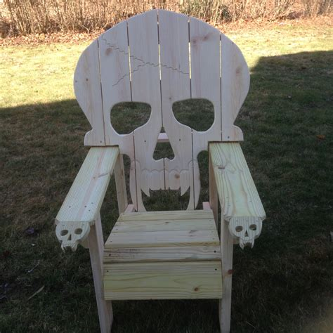 Skull Chair - skull chair adirondack chair sized chair yard