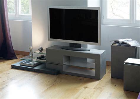Mobilier Exterieur 2722 acheter votre meuble tv contemporain fa 231 on b 233 ton et verre