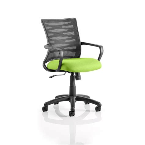 Eclipse In Green eclipse home office chair in green with castors 29806