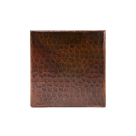 premier copper products 6 in x 6 in hammered copper decorative wall tile in oil rubbed bronze