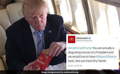 donald trump mcdonalds hacked mcdonald s serves anti trump tweet twitter is