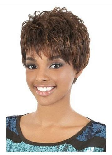 feathered curls pixie 17 best images about african ameriacan wigs on pinterest