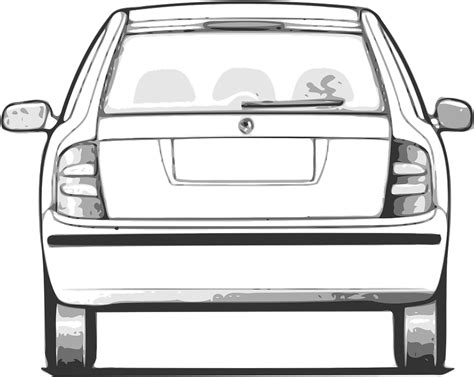 auto rear view free vector graphic rear view of auto back car free