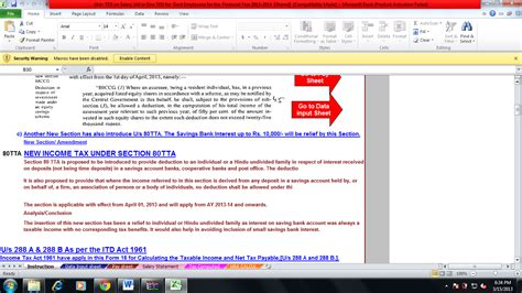 Section 80tta Of Income Tax by Income Tax Calculator For Financial Year 2013 14 And