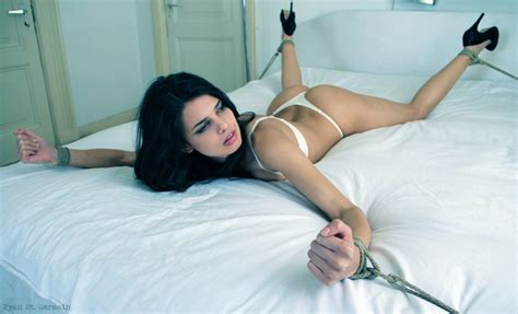 tied to the bed untitled photo kink pinterest all tied up white