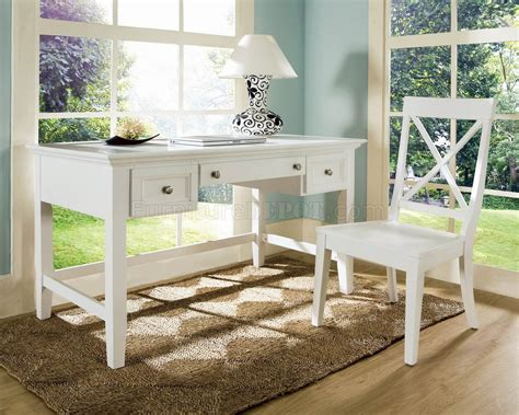 White Desk For Home Office White Finish Modern Home Office Desk Chair Set