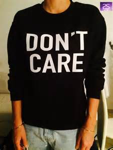 Chandeliers For Teens Dont Care Black Sweatshirt Jumper Cool Fashion By Stupidstyle