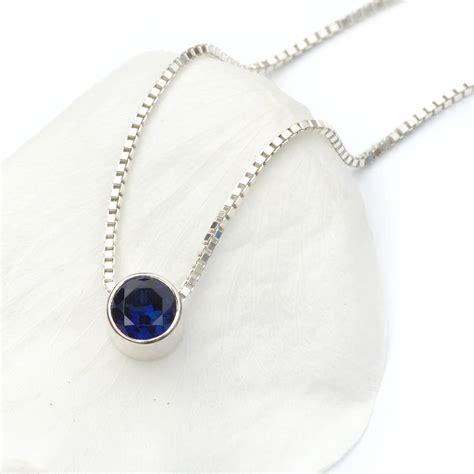 Birthstone Jewelry by Sapphire Necklace September Birthstone By Lilia Nash