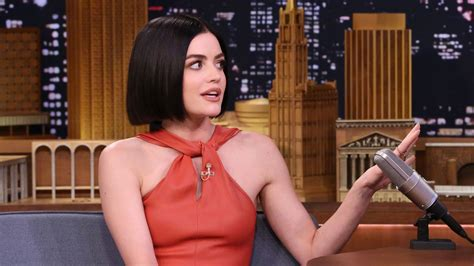 she she nsync superfan lucy hale cried when she met justin timberlake the tonight show