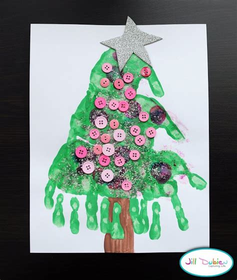 handprint christmas tree to make pinterest