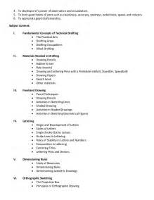 technical drafting subject outline