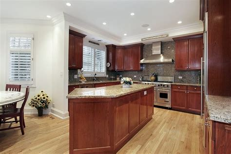 kitchen ideas with cherry cabinets kitchen floors with cherry cabinets