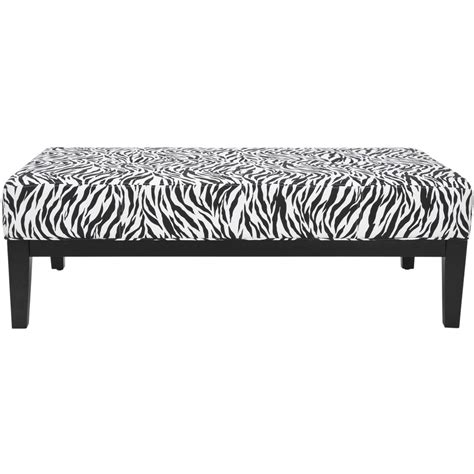 zebra print storage bench shop safavieh mercer zebra print indoor accent bench at