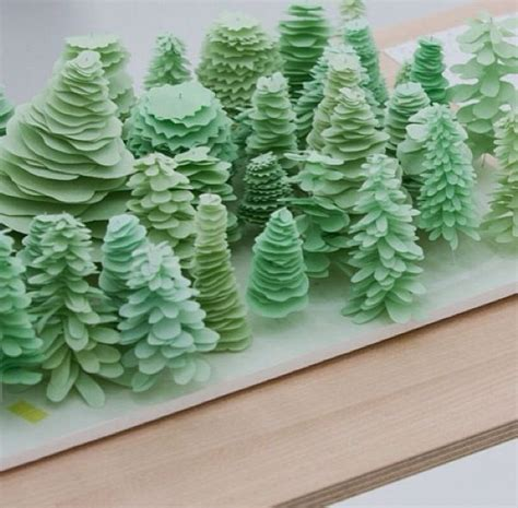 How To Make Model Trees From Paper - pin by resource centre on architecture model trees
