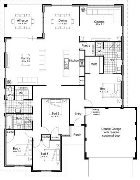 1000 Images About Floor Plans On Pinterest House Design Architectural House Plans