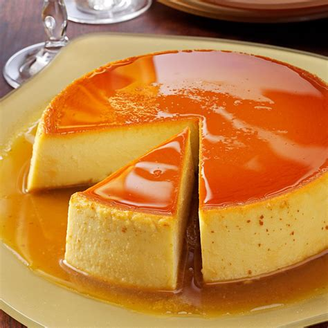 creamy caramel flan recipe taste of home