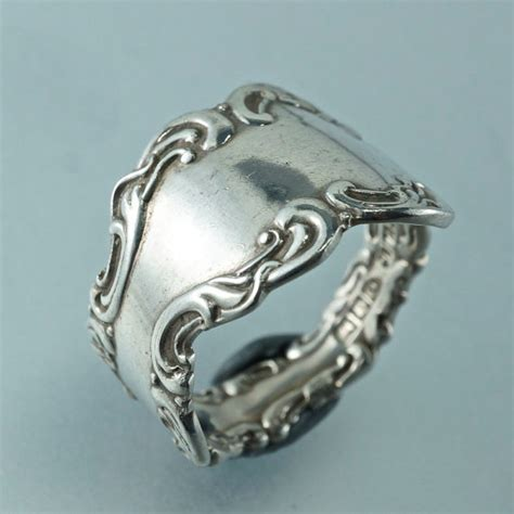 antique birks sterling silver spoon ring ornate by