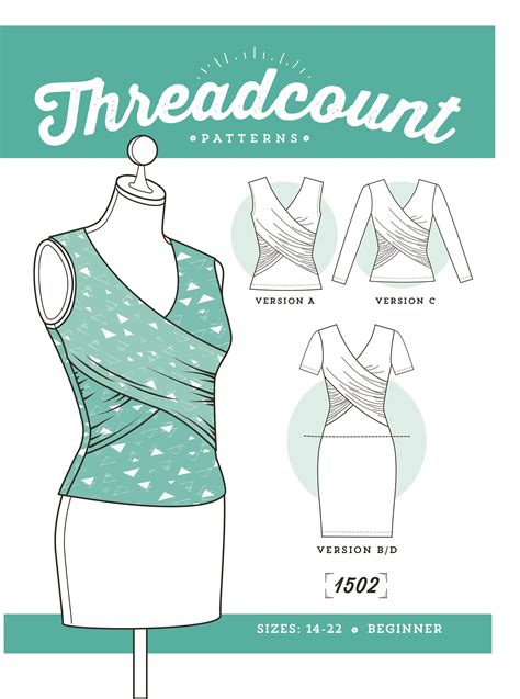 pattern download sewing 187 free download threadcount wrap dress and top in size 6