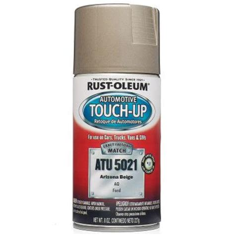 rust oleum automotive 8 oz arizona beige auto touch up spray of 6 atu5021 the home depot