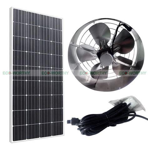 solar powered 65w attic ventilator roof vent fan w 100w