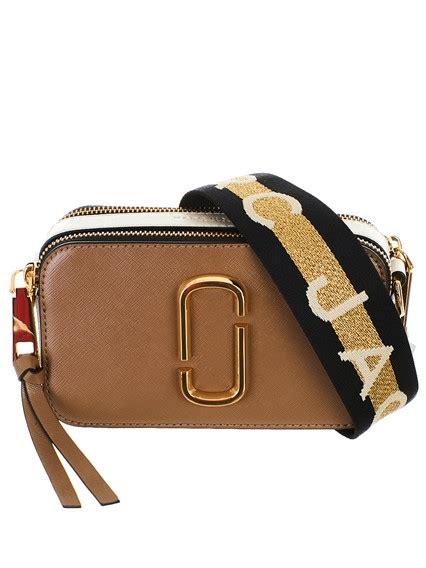 marc jacobs black  red snapshot bag