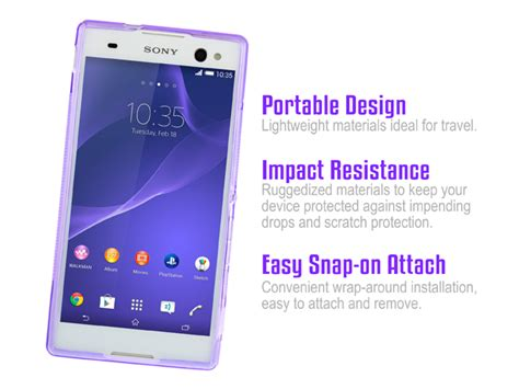 sony xperia c3 wave plastic back