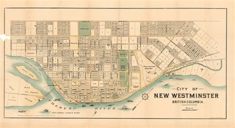 map of westminster city of new westminster columbia city of