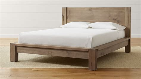 how big is a single bed big sur smoke queen bed crate and barrel