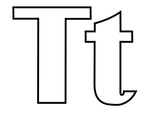 Letter T Coloring Page by Original File Svg File Nominally 1 056 215 816 Pixels