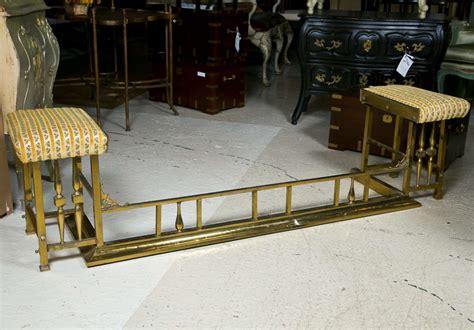 fireplace bench brass fireplace bench at 1stdibs