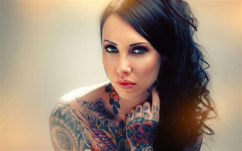 tattoo girl beautiful makani terror by makaniterror com desktop wallpaper