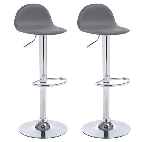 kitchen breakfast bar stools grey 1 2 pcs faux leather bar stools kitchen breakfast stool