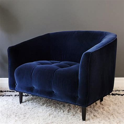 blue velvet armchair carla large deep blue velvet armchair att pynta