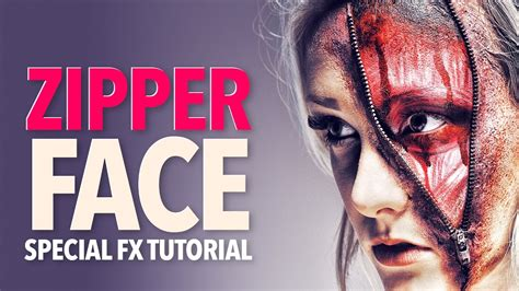 zombie zipper tutorial zipper face zombie halloween makeup tutorial youtube