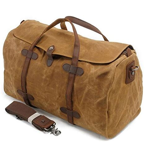 Import Bag Leather Kokoh 28x19115000 s zone waterproof waxed canvas leather trim travel tote duffel import it all