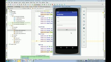 android studio edittext tutorial android app development tutorial step4 data input text