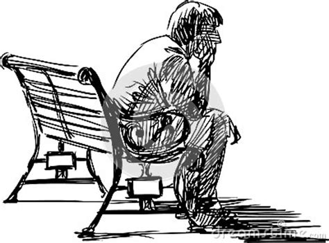 how to draw people sitting on a bench waiting royalty free stock photo image 30685045