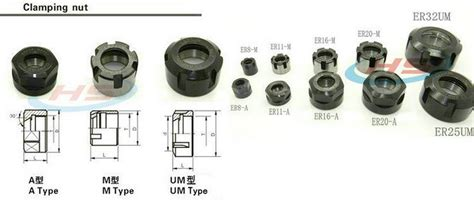 er11 er11a collet chuck cap nut er11a collet cling nut for cnc milling collet chuck