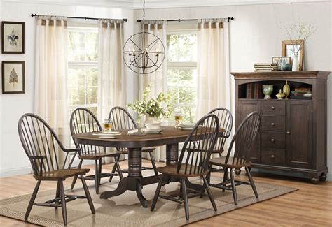 two tone dining room sets cline two tone extendable dining room set from homelegance