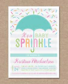 printable baby sprinkle invitation baby shower umbrella